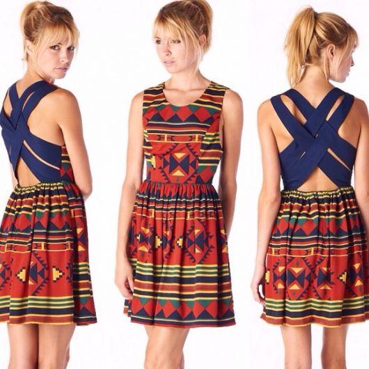 vestido etnico basico