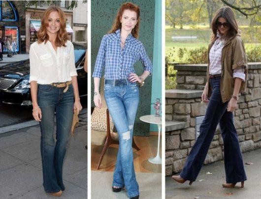 jeans basico com sandalia salto bloco