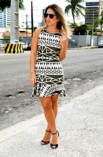 look simples com vestido etnico