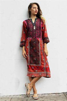 como usar vestido etnico