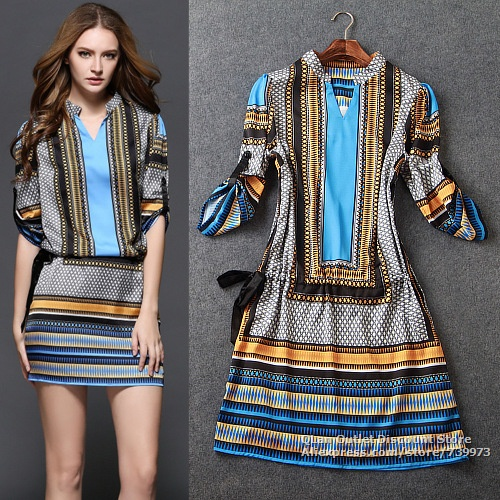 vestido etnico para look trabalho