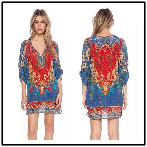 vestido etnico para comprar