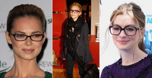 exemplo óculos de grau em rosto redondo famosas