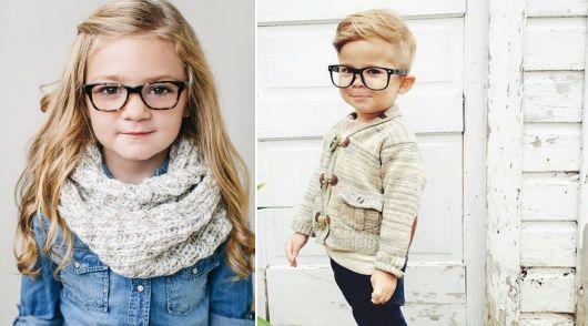 exemplo óculos de grau em rosto redondo crianças
