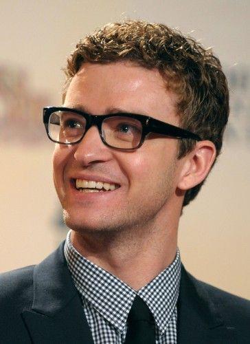 óculos geek do cantor Justin Timberlake