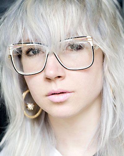 óculos geek estiloso branco