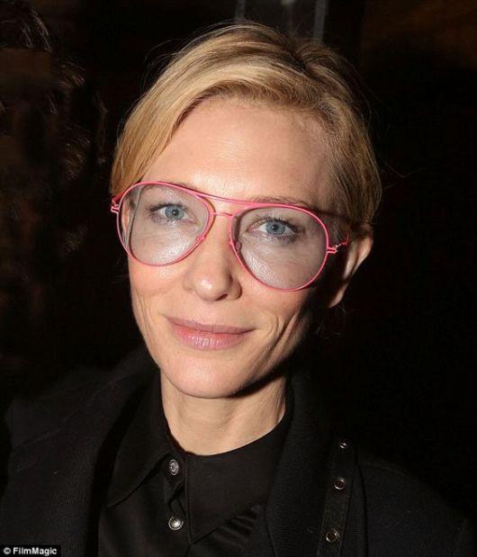 óculos geek da atriz Cate Blanchett