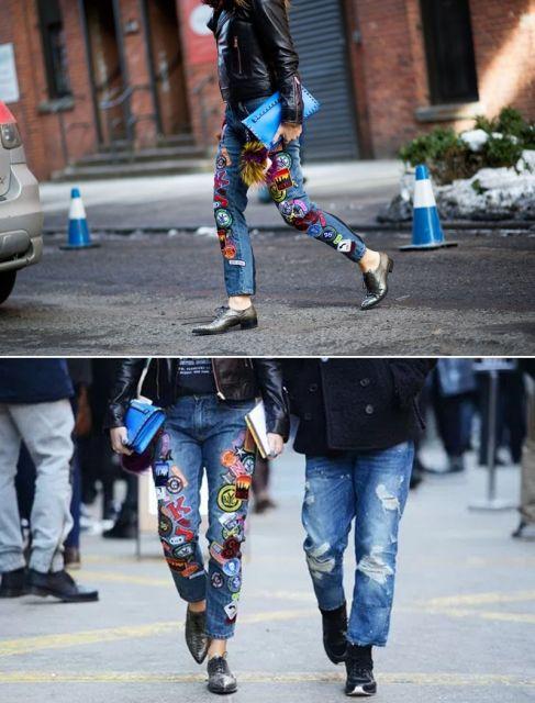 como customizar calça jeans exemplo transformar em shorts patches