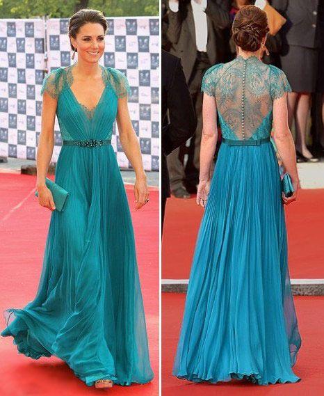 Vestido de festa longo na cor azul royal