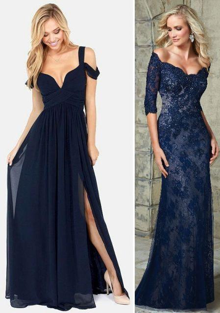 Acessorios para vestido de festa azul royal