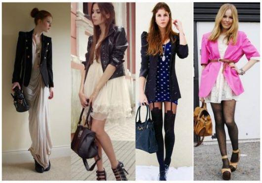 vestidos com blazer em vários estilos