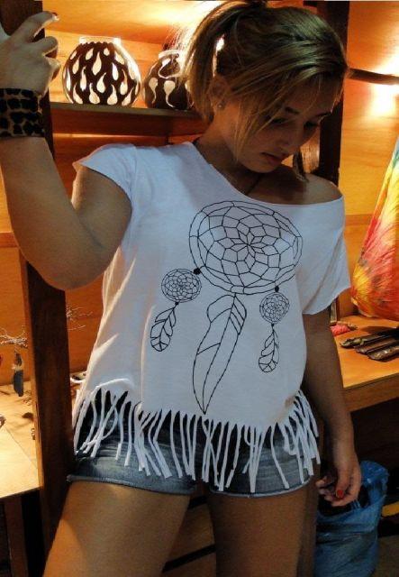 blusa de franja como usar