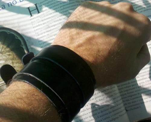 bracelete masculino rock