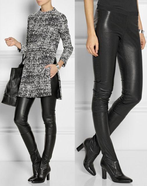 legging comprida preta com bota