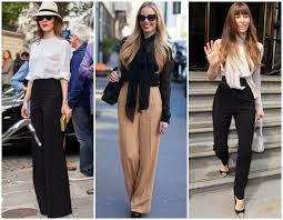 Calças pantalonas elegantes