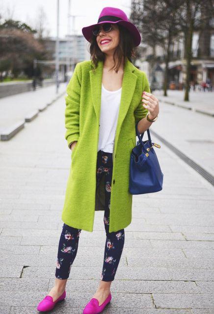 como usar sobretudo colorido na moda inverno