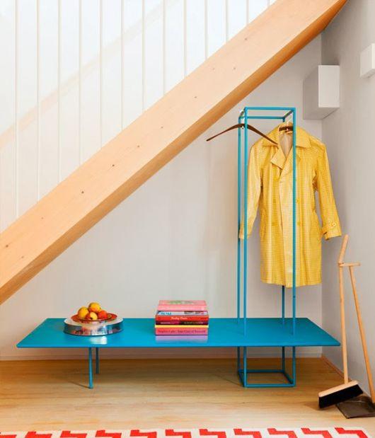 decoração color block amarelo e azul