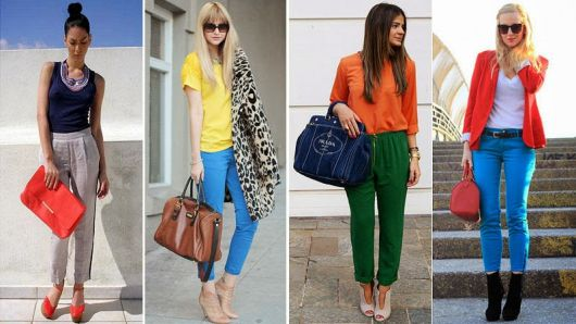exemplos de looks color block