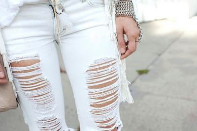 como customizar calça jeans exemplo distressed
