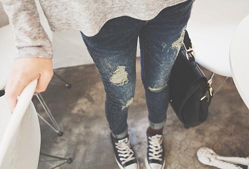 como customizar calça jeans exemplo distressed
