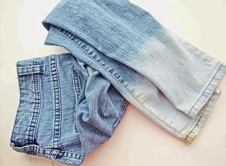 como customizar calça jeans exemplo barra de calça desbotado