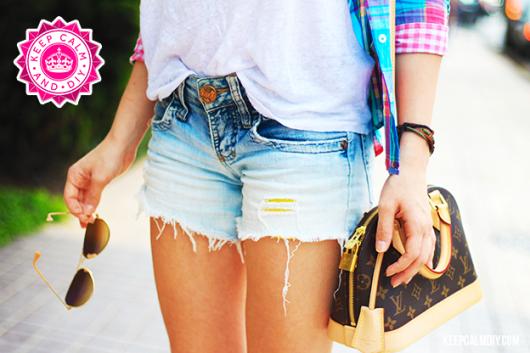 como customizar calça jeans exemplo transformar em shorts