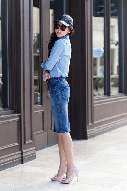 dicas para usar saia jeans