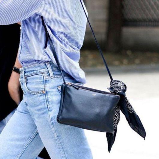 como usar bandana - na bolsa
