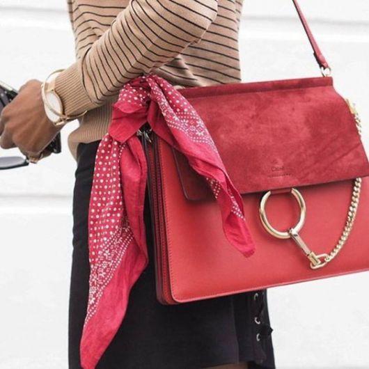 como usar bandana - na bolsa vermelha