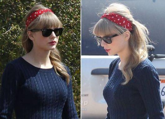 como usar bandanas - cantora Taylor Swift