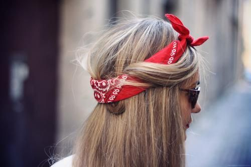 como usar bandanas - sobre o cabelo