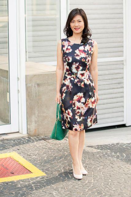 vestido floral para look trabalho