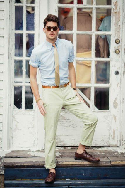 como usar gravata slim no verão