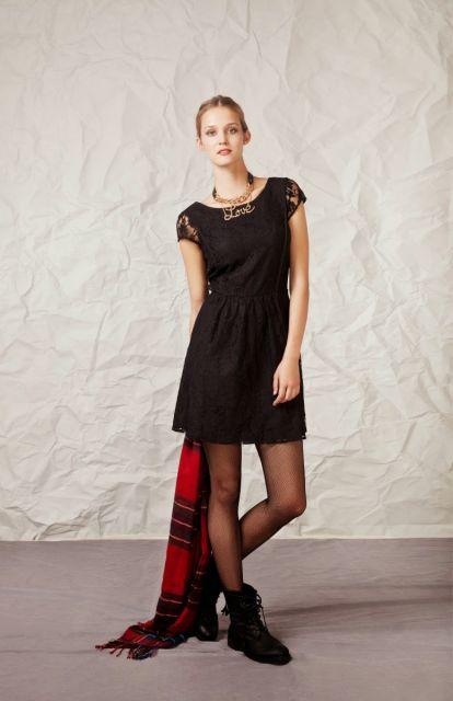 usar coturno com vestido de renda