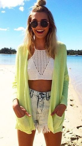 casaco crochet