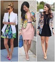 Blazer com vestido de estampa, rosa e preto
