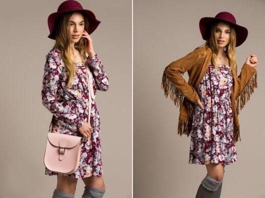exemplo estilo folk jaqueta com franja