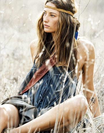exemplo estilo folk hippie indígena