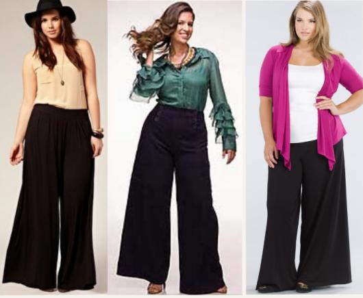 Gordinhas de pantalona escura