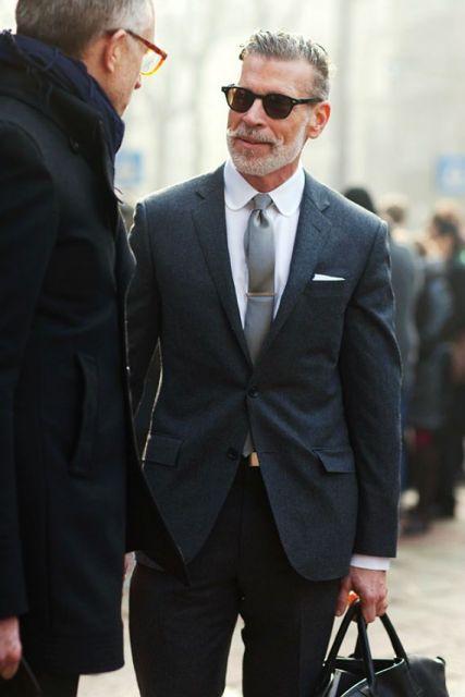 gravata slim com blazer