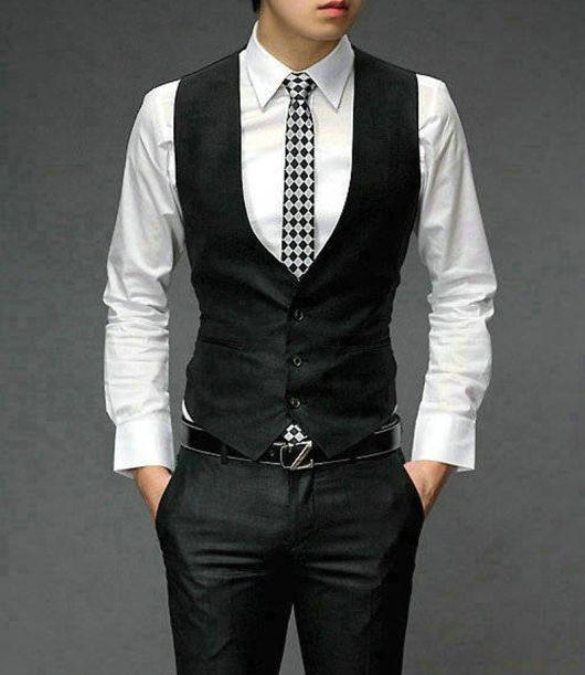 gravata slim combina com colete