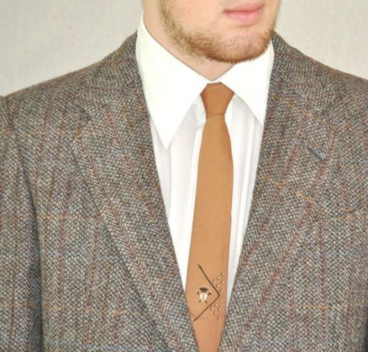 gravata slim como usar a lapela