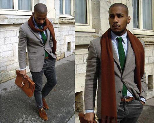 gravata slim no inverno