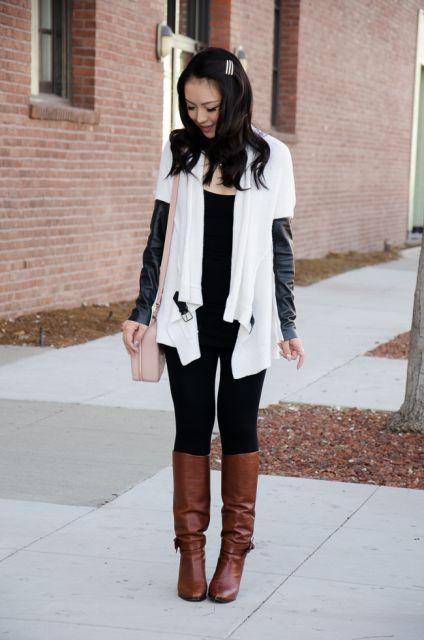 ideias para look inverno com legging