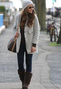 legging e casaco no look inverno casual