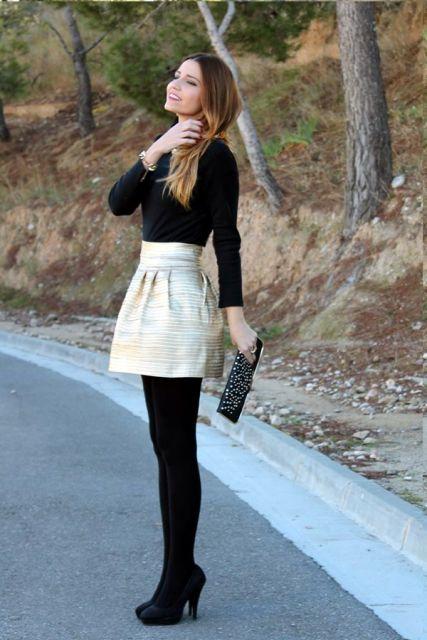 como usar saia em look casual frio
