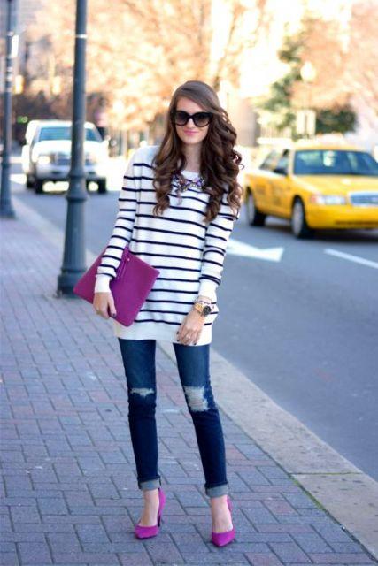jeans com scarpin rosa como usar