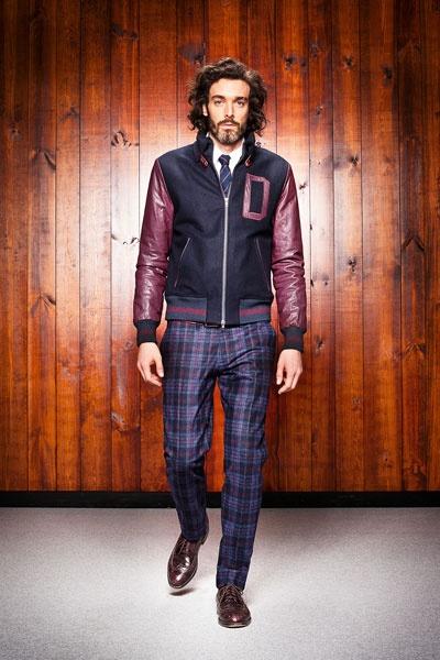 combinar calçar xadrez e jaqueta college