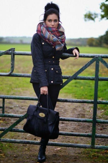jaqueta com legging para look inverno