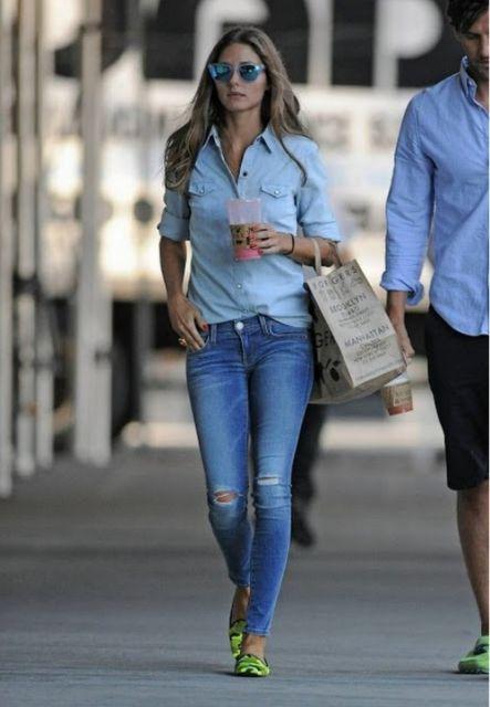 blusa manga comprida com calça jeans basica